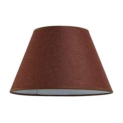 DULEE - Pantalla de lámpara de 24 a 40cm aprox. de lino, para E27, para lámpara de mesa o de pie, marrón, Top:16cm x Height:18cm x Bottom:30cm