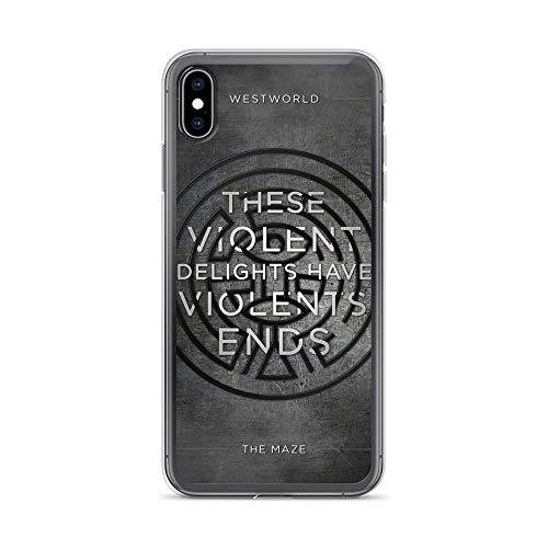 Carcasa para iPhone Xs Max antiarañazos, diseño de serie Westworld The Maze, transparente
