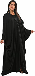 BOUSNI Women's bsi916 Bahraini Style Abaya, Black