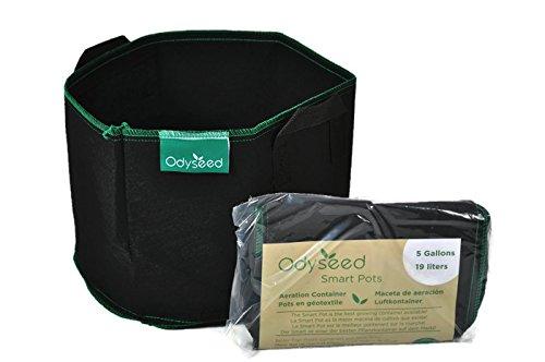 odyseed - SmartPot 19,1 litres - Pots en géotextile pour cultiver à l'intérieur comme à l'extérieur