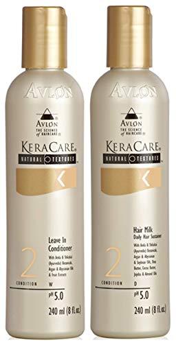 Avlon Keracare Natural Textures Acondicionador sin enjuague 240ml con leche para el cabello 240ml