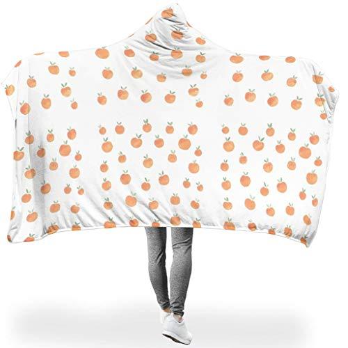 Dogedou Pfirsich-Dekor Tagesdecke Anti-verfärben Vlies Decke White 130x150cm