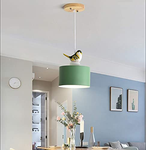 LLLKKK Lámparas de techo, iluminación sencilla, doradas, de hierro, iluminación de jaula de pájaros, lámpara colgante, bar, restaurante, lámpara china