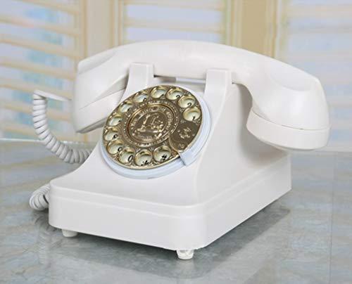 Gib niemals auf Drehknopf antikes Telefon im europäischen Stil Wohnzimmer Retro Telefon Schlafzimmer Festnetz Dekoration (Design : 2)