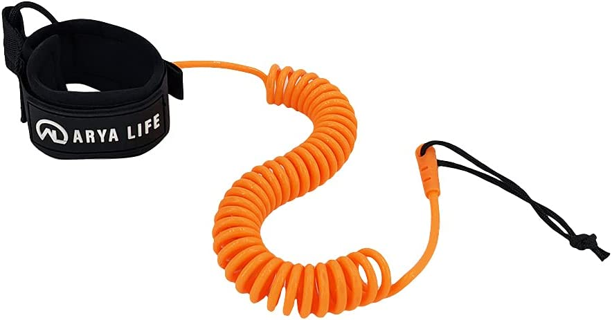 Arya Life SUP Leash 10 Max 58% OFF Foot 5 ☆ popular Board Coiled Stand Paddle Up Surfboa