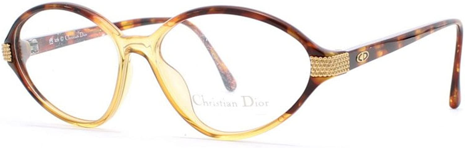 Christian Dior 2770 10 Brown and gold Authentic Women Vintage Eyeglasses Frame