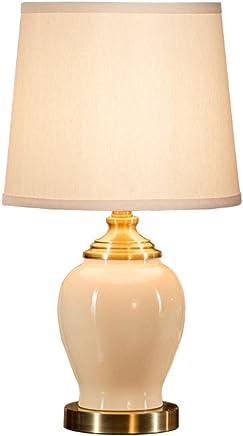 美式乡村陶瓷台灯温馨卧室装饰床头灯欧式客厅书房复古装饰台灯---调光开关