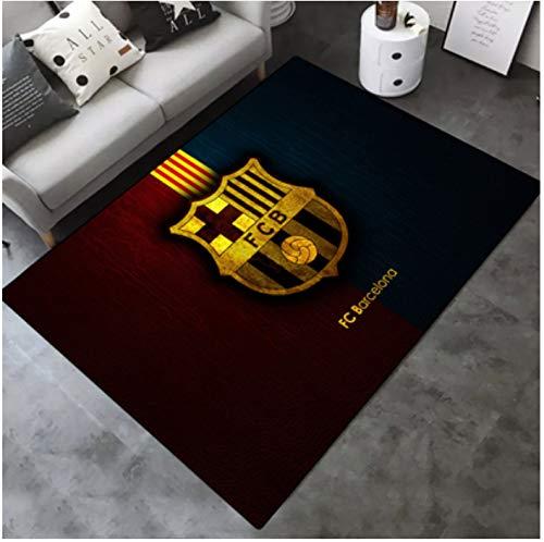 Alfombra Personalidad Fútbol Creativo Barcelona Rosa Habitación Para Niños Sala De Estar Antideslizante Sofá Mesa De Centro Dormitorio Dormitorio Junto A La Cama Alfombrilla Rectangular 80 * 120 Cm