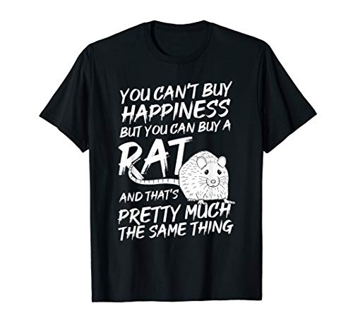 Funny Adorable Cute Small Rodent Pet Happy Rat Lovers Quote T-Shirt