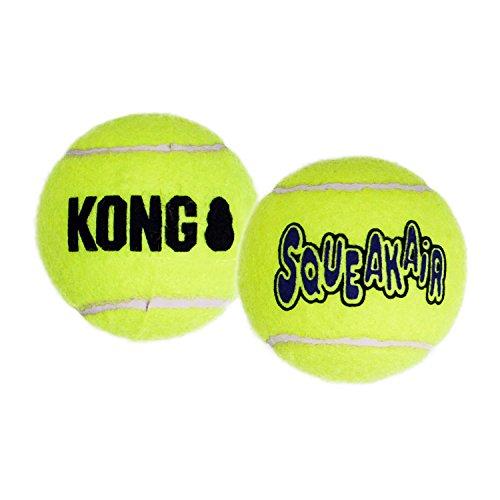 KONG – Squeakair Ball – Premium-Hundespielzeug, Quietschende Tennisbälle, Zahnschonend – Für Sehr Große Hunde