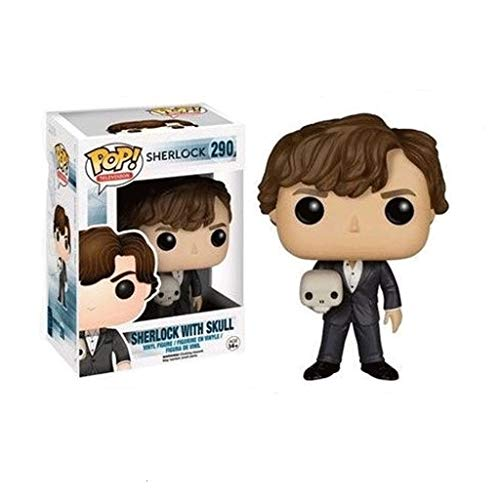 Funko Pop Television : Sherlock - Sherlock with Skull 3.75inch Vinyl Gift for TV Fans SuperCollection