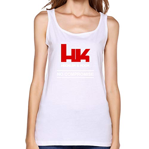 Women\'s Tank Top Shirt Hk Logo Heckler Koch Firearms Compromise Tank Tops Funny Sleeveless Shirts Tees