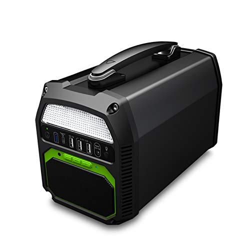 ZXYWW Generadores Solares De Estación De Energía Portátil De 300 W, Fuente De Alimentación De Batería De Litio De 220 V 124800 Mah Altavoz Bluetooth Incorporado Y Toma De Corriente