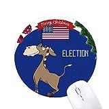 Demokratische Eselsbrücke ziehen die Wahl der Fahne rund um den Gummi Maus Pad Weihnachtsbaum Mat