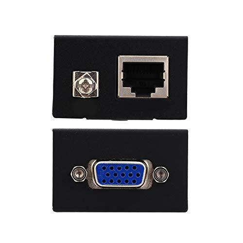 SunshineFace Extensor Vga Rj45 de 60 M Cable Transmisor Receptor Cat-5/6 Ethernet