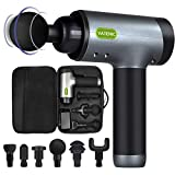 Massage Gun Muscle Massager Deep Tissue Percussion 5 Speeds Adjustable Super Quiet Brushless Motor Handheld Electric Full Body Massager for Pain Relief, Soreness with Portable Case (Black)