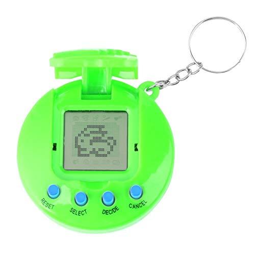 Máquina de Juego portátil del Animal doméstico Retro de los Juguetes electrónicos virtuales del bebé de los niños ( Color : Green )