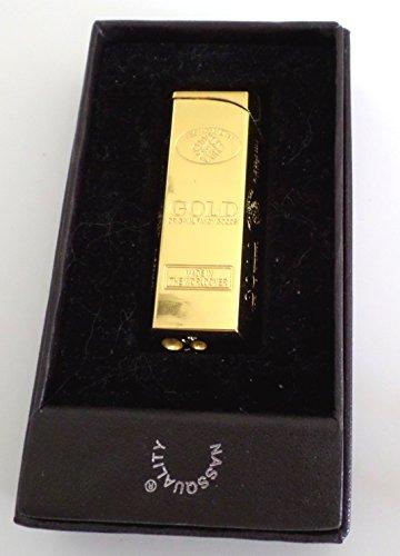 Feuerzeug - Elektronikfeuerzeug - Goldbarren - in Geschenkbox
