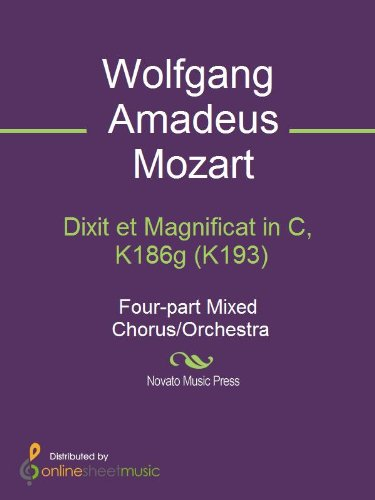 Dixit et Magnificat in C, K186g (K193) (English Edition) eBook: Wolfgang Amadeus Mozart: Amazon.es: Tienda Kindle