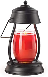 CANDLE WARMERS ETC Hurricane Candle Warmer Lantern for Top-Down Candle Melting, Black