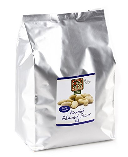 Oh! Nuts Blanched Almond Flour   Gluten-Free, Extra Fine Baking Delights   4lb All-Natural Wheat Substitute   Dried Food Healthy Pantry Items   All-Purpose Kosher, Vegan, Paleo and Keto Friendly Diets