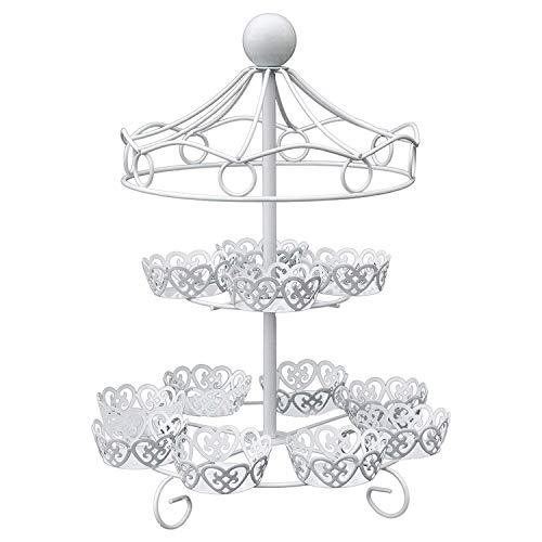 wivarra 2 Schicht 12 Count Karussell Cupcake Stand Halter Display Hochzeits Torte Cup Display Stand