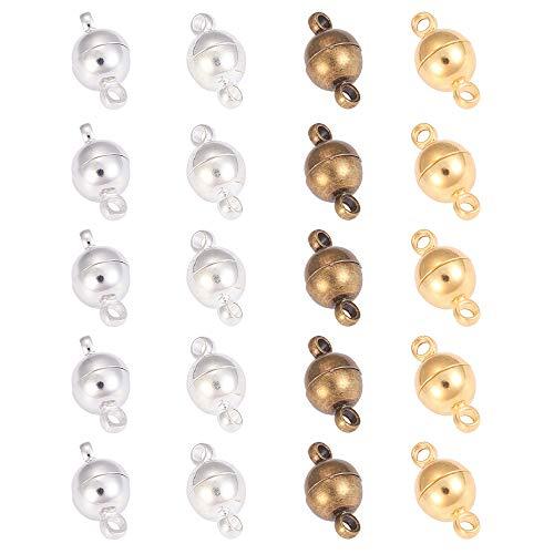 20 Cierres Para Pulseras Cierres Collares, Joyas de Cierre Magnético Broche de Langosta para Bisuteria Cierres Pulseras, DIY Bisutería Collar PulseraHacer Joyería Hecha a Mano