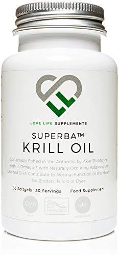 Aceite de Krill Superba de LLS | Pescado sostenible por Aker BioMarine | 500mg x 60...