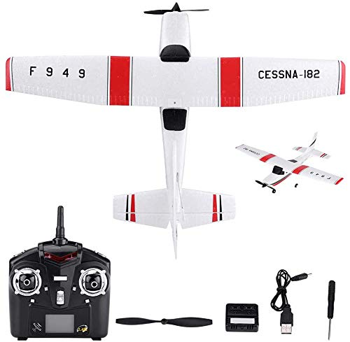 RC Airplane F949 Cessna 182 Model Foam EPP RC Drone 2.4G 3 Channel Remote Control Airplane Glider Aircraft, Best Gift for Kids and RC Plane Lovers