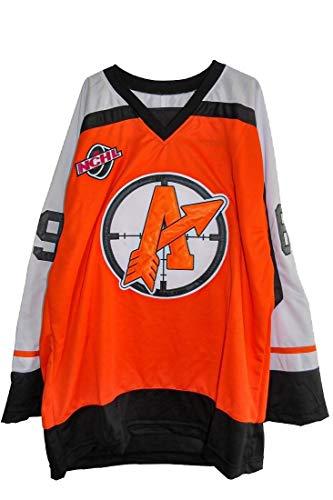 borizcustoms Doug The Thug Glatt Movie Orangetown Hockey Jersey Stitch (54, Orange)