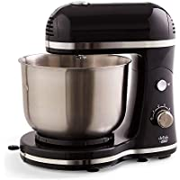 Dash Delish Compact Stand Mixer 3.5 Quart With Beaters & Dough Hooks (Black)