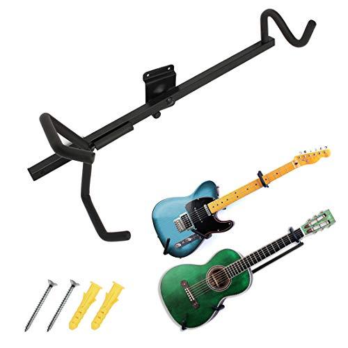 Soporte horizontal de pared para guitarra eléctrica, acústica, clásica, bajo y ukelele, de la marca JJOnlinestore