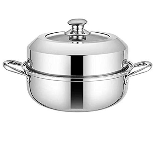 SHYPT Single Layer Edelstahl Dampfgarer, Haushalt Suppentopf, EIN-Schicht-Dampfer, große Kapazitäts-Cooker Pot...