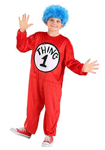 Dr. Seuss Thing 1 and 2 Kids Costume with Wig, Small 4-6