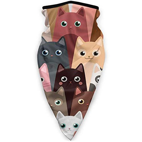 AEMAPE Various Cute Cartoon Cats Bandanas Face Scarf Neck Gaiter Face Scarf Headband Scarf Dust for Men Women Outdoor Sport