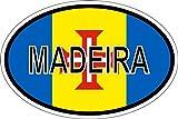 Akachafactory Sticker Aufkleber Nationalitätenkennzeichen Flagge Fahne Madeira