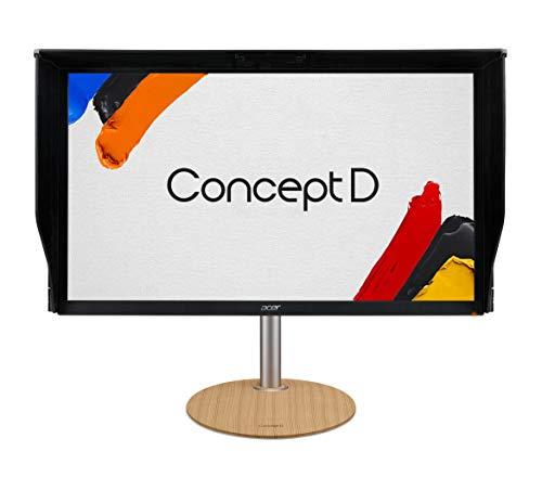 Acer ConceptD CM3 CM3271K bmiipruzx 27 Zoll UHD 4K 3840 x 2160 IPS Radeon FreeSync Monitor, Pantone Validiated, BildschirmHDR400, 99prozent Adobe RGB, Delta E <2 (BildschirmPort, 2 x HDMI, USB Typ-C und USB-Ports)