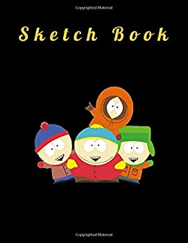 Sketch Book Fun Cartoon Net Cover Blank Drawing Book- Large Notebook for Drawing Doodling or Sketching  110 Pages 8.5  x 11   Blank Paper Drawing and .. to save all your sketches and drawings!