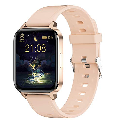 Smartwatch 1.7'' Pollici Orologio Fitness Tracker Uomo Donna,Bluetooth Smart Watch Android iOS,Orologio Intelligente Impermeabile IP68 Activity Tracker Contapassi Cardiofrequenzimetro da polso Schermo