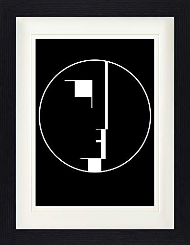 1art1 Oskar Schlemmer - Staatliches Bauhaus, Logo, 1922 Gerahmtes Bild Mit Edlem Passepartout | Wand-Bilder | Kunstdruck Poster Im Bilderrahmen 40 x 30 cm