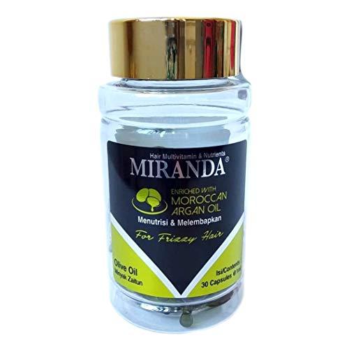 MIRANDA ミランダ Hair Multivitamin&Nutrients ヘアマルチビタミン ニュートリエンツ 洗い流さないヘアトリートメント 30粒入ボトル Olive oil オリーブオイル