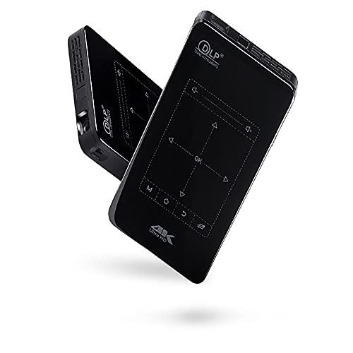 Outdoor Cover Proyector de teléfono móvil, versión de actualización de Entrada HD Android 9.0 System 4K Mini proyector portátil en Miniatura Inteligente.
