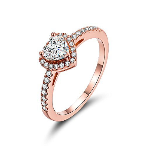 MDFUN Luxurious Rose Gold Plated Cubic Zirconia Infinity Love Solitaire Promise Eternity Ring (7)