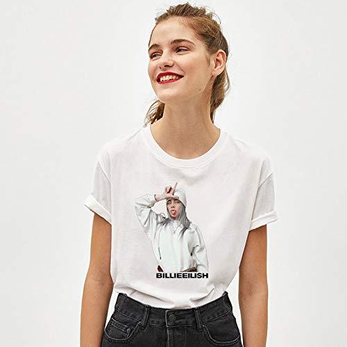 hjkg Camiseta T-Shirt,Verano Harajuku Belleza Impresa Camiseta algodón cómodo Cuello Redondo Suelto...