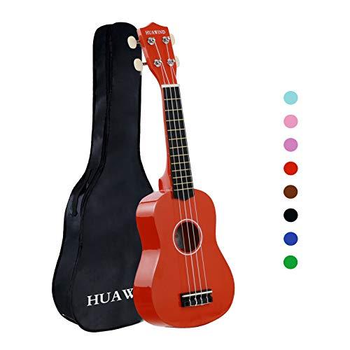 21pulgadas Soprano Hawaii ukelele para principiantes cuatro cuerdas Guitarra, Marrón