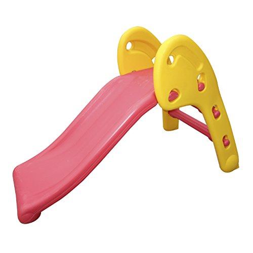 HOMCOM Tobogan para niños 1 año casa o Jardin 110 x 54 x 70 cm MAX. 60 kg