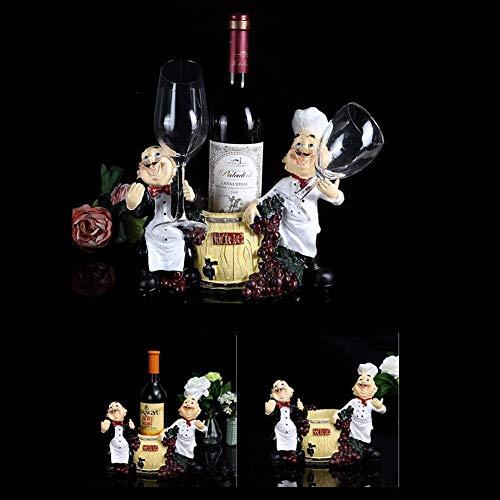 PYROJEWEL Clásico Vino Europeo Estante Estante del Vino de Resina Creativa Sala de su casa Vino gabinete Armario Adornos de decoración Viva de Vino vacía botellero