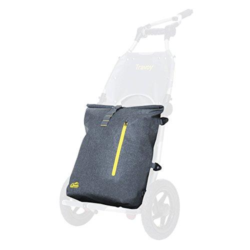 Qeedo Packsack Dry Carrier Lower, Zubehör für Burley Travoy, Wasserdicht, Grau, Rucksack, Backpack, Robust, Leicht