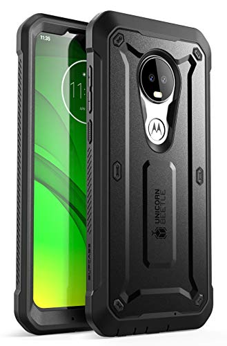 SUPCASE Unicorn Beetle Pro Series Phone Case for Motorola Moto G7 / Moto G7 Plus (2019 Release) Full-Body Rugged Holster Protective Case with Built-in Screen Protector (Black)