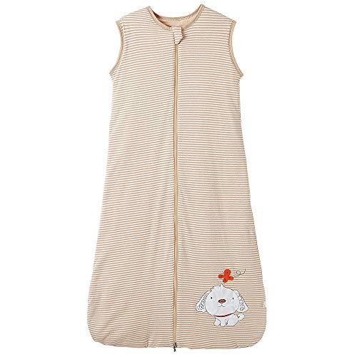 Kinderschlafsack Winter Babyschlafsack mädchen Jungen Schlafanzug Neugeborene Schlafsack Winter Streifen Hündchen 3-6 Jahre 2.5 tog (3-6 Jahre, Hautfarben Streifen Hündchen)